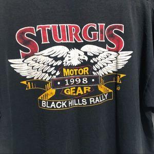 Fruit of the Loom Shirts - Vintage Sturgis SD T-Shirt 1998 Black Hills Rally